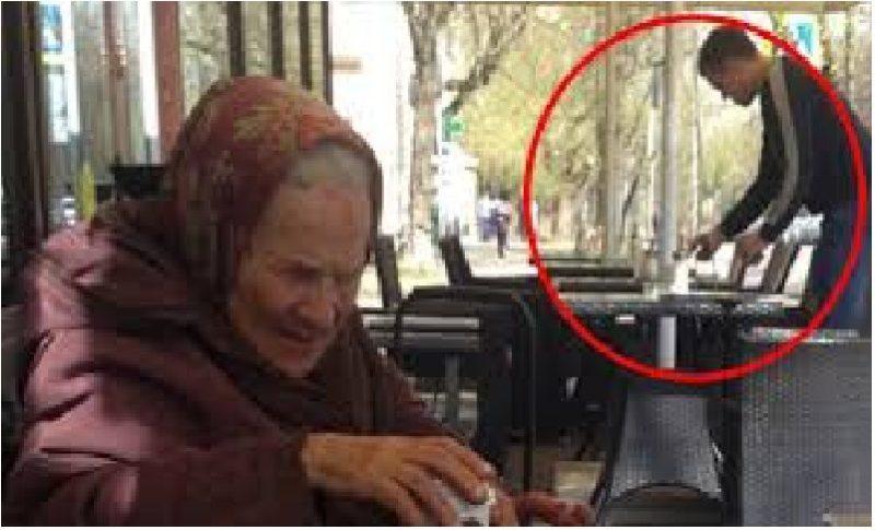 Картинки по запросу Старушка села за столик в кафе, а официант повёл себя нестандартно, что очень удивило людей